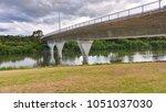 a box girder bridge across the... | Shutterstock . vector #1051037030