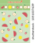 educational counting game for... | Shutterstock .eps vector #1051037639