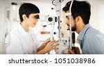 ophthalmology concept. patient...   Shutterstock . vector #1051038986