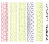seamless line borders patterns... | Shutterstock .eps vector #1051040144