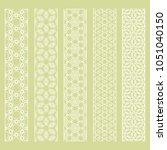 seamless line borders patterns... | Shutterstock .eps vector #1051040150