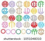 monogram circle alphabet. | Shutterstock .eps vector #1051048310