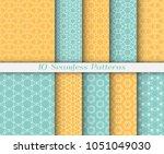 seamless pattern set in arabic... | Shutterstock .eps vector #1051049030