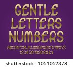 gentle letters and numbers with ...   Shutterstock .eps vector #1051052378