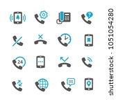 phone icon set   Shutterstock .eps vector #1051054280