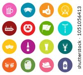 oktoberfest icons many colors... | Shutterstock . vector #1051056413