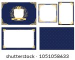 set of vector picture frame.... | Shutterstock .eps vector #1051058633