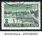 finland   circa 1946  stamp... | Shutterstock . vector #105106424