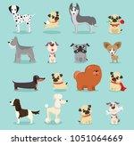 vector illustration set of cute ... | Shutterstock .eps vector #1051064669