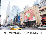 new york  usa   nov 20  busy... | Shutterstock . vector #1051068734