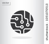 circuit board icon   vector... | Shutterstock .eps vector #1051070513