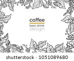 vector tropical template of... | Shutterstock .eps vector #1051089680