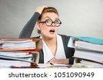 emotions shock corporation... | Shutterstock . vector #1051090949