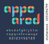 color font. vector alphabet... | Shutterstock .eps vector #1051096799