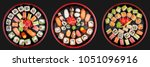 sushi set nigiri  rolls and... | Shutterstock . vector #1051096916