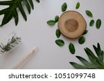 cosmetic skincare nature... | Shutterstock . vector #1051099748