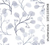 seamless pattern with leaves.... | Shutterstock .eps vector #1051103048