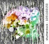 color splashes sample surface...   Shutterstock . vector #1051103153