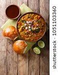 indian mumbai food pav bhaji... | Shutterstock . vector #1051103360