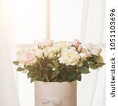 bridal bouquet in bright rood | Shutterstock . vector #1051103696