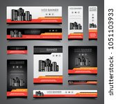 design set for banner  cover ... | Shutterstock .eps vector #1051103933
