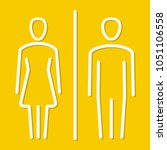 simple basic icon sign for men... | Shutterstock .eps vector #1051106558