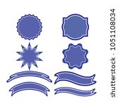 a set of labels. isolated icons.... | Shutterstock .eps vector #1051108034