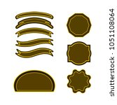 a set of labels. isolated icons.... | Shutterstock .eps vector #1051108064