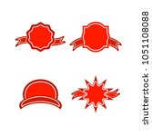 a set of labels. isolated icons.... | Shutterstock .eps vector #1051108088