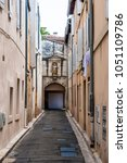 Small photo of Old Town street architecture during the Avignon Festival Off. Avignona??s history is one of acrimony.