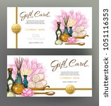 a set of gift vouchers for... | Shutterstock .eps vector #1051116353
