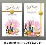 a set of gift vouchers for... | Shutterstock .eps vector #1051116359