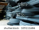 steel rods or bars used to... | Shutterstock . vector #105111686