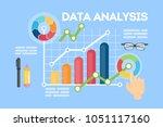 data analysis concept... | Shutterstock . vector #1051117160