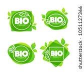 bio product  doodle organic... | Shutterstock .eps vector #1051127366
