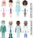 medicine set of medical people  ... | Shutterstock .eps vector #1051128170