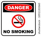 danger no smoking sign. danger... | Shutterstock .eps vector #1051133360