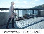 nervous life. anxious older...   Shutterstock . vector #1051134260