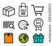 package icon. shopping bag ... | Shutterstock .eps vector #1051134314