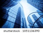 commercial building has a low... | Shutterstock . vector #1051136390