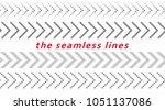 set of seamless arrow lines.... | Shutterstock .eps vector #1051137086