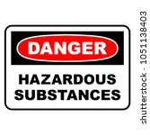 danger hazardous substances... | Shutterstock .eps vector #1051138403