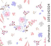 gentle seamless pattern with...   Shutterstock .eps vector #1051142324