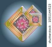 doodle bisquit cookie or... | Shutterstock .eps vector #1051144523
