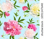 seamless pattern with pink and... | Shutterstock .eps vector #1051147640