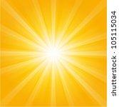 orange sunburst summer holiday... | Shutterstock .eps vector #105115034