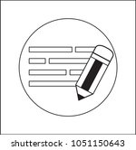 writing vector icon | Shutterstock .eps vector #1051150643