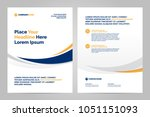 brochure layout template  cover ... | Shutterstock .eps vector #1051151093