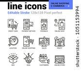 online shopping and e commerce... | Shutterstock .eps vector #1051153994