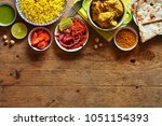 top view of traditional indian... | Shutterstock . vector #1051154393